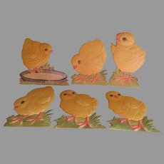Easter, Spring Holiday Decorations, Baby Chicks, Chickens Embossed Paperboard