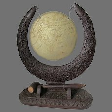 Anglo Indian Dinner Gong, Had Carved Teak, Political Map of India