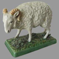 Antique 19thC Italian or French Ram, Sheep or Lamb Figurine