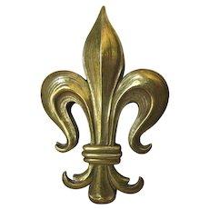 French Fleur de Lis Paperclip, Letter Clip or Memo Holder