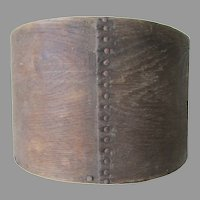 Primitive Antique Bent Wood Measure, Square Nails, Rustic Box