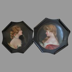 Antique c1907 Advertising Tray Rosamond & Mildred, Meek Plaques