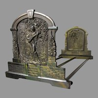 Antique Expanding Bookends, Gentleman with Lute
