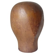 Antique Wood Millinery Head, Wig Store Hat Display , Fashion Display