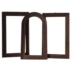 Set of 3 Antique Italian Carved Wood Picture Frames