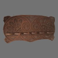 Antique Primitive Frisian, Hand Carved Pipe, Spoon Rack