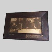 Antique Beethoven Sonata Print, Lionello Balestrieri, Embellished Frame