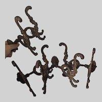 Beautiful Set of 4 Matching Coat Hooks, Hall Tree Hooks, Architectural