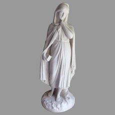 Antique Parian Porcelain Figurine, Highland Mary, BE Spence