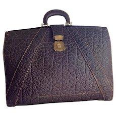 Vintage Walrus Leather Attache, Briefcase, Suitcase, Luggage Case