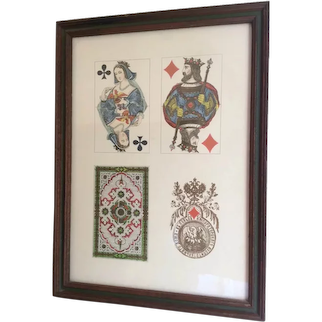 Vintage Print of Russian Playing Cards Circa 1867