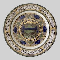 Antique English Royal Doulton Plate, Rare Cluny Pattern