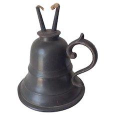Antique Whale Oil Lamp, Primitive Lighting Device