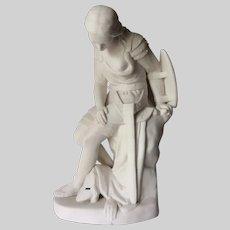 Antique Minton Parian Porcelain Figure of Clorinda by John Bell