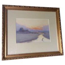 Impressionistic Watercolor, Gloucester Coast Massachusetts, Herber C. Todd