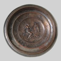 Antique Victorian Cupid Blindfolding Beauty, Tazza, Calling Card Tray