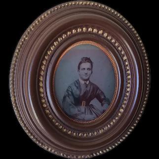 Antique Circa 1855 Gutta Percha, Thermaplast Photograph Frame