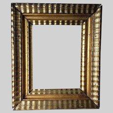 Beautiful Antique Ripple Molding Picture, Mirror Frame, Original Gilding