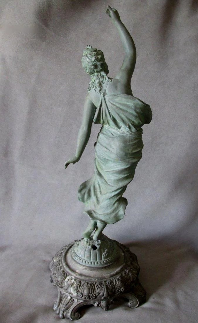 19Thc Victorian Nude Lady Sculpture, Lamp, Newel Post Finial  Neatcurios  Ruby Lane-1985