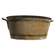19thC Victorian Tole Painted Wash Tub, Basin