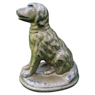 Antique  Cast Iron Dog Doorstop