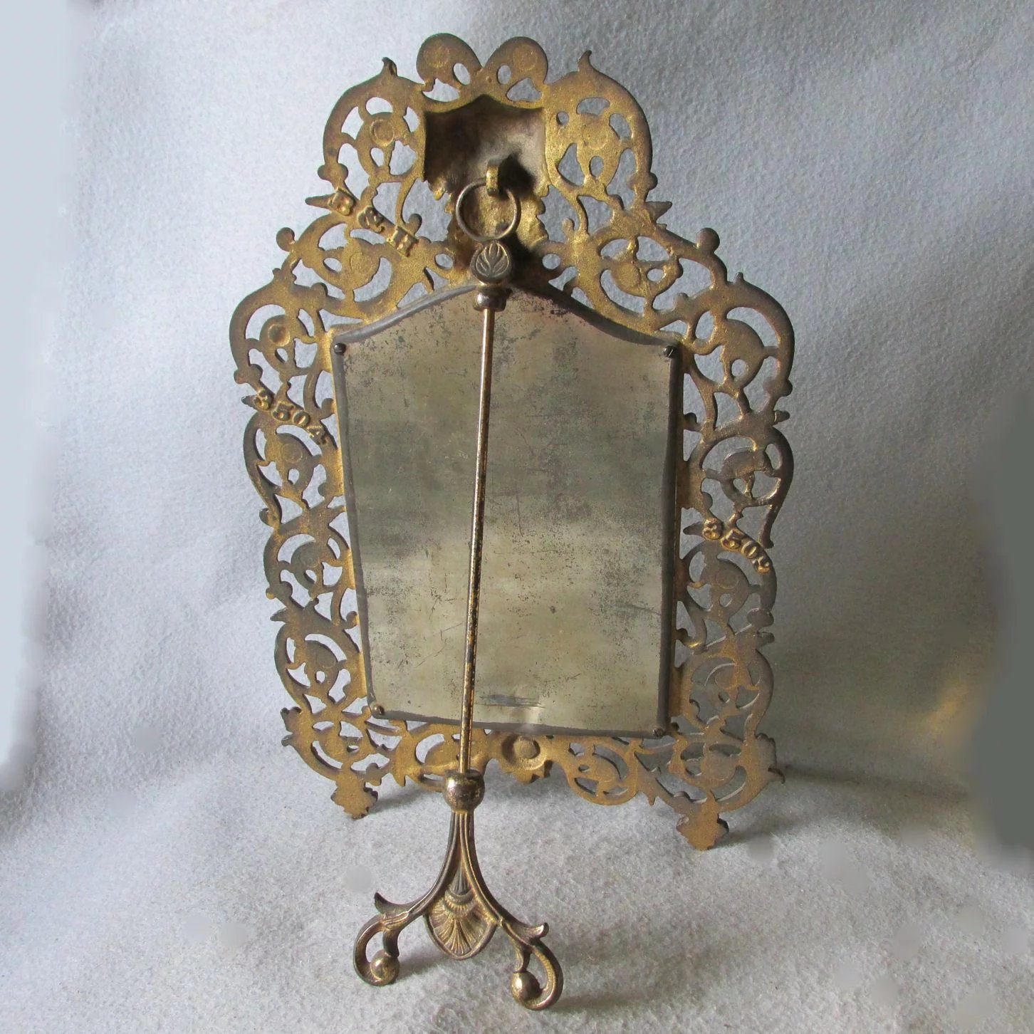 Antique Bradley Hubbard Mirror Picture Frame With Bacchus
