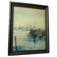 Watercolor Painting, New England Nautical, Sailing Ship