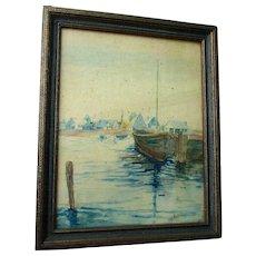 Watercolor Painting, New England Nautical, Sailing Ship