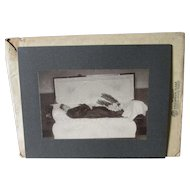 c1880-90s Post Mortem Photograph with Original Envelope