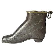 c1910-20s Nugget Boot Polish Figural Shoe Cigarette Lighter