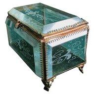 Antique Beveled Glass, Washington Jewelry Box
