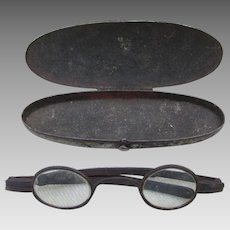 Rare Late 1700s, early 1800s Hand Forged Iron Eyeglasses