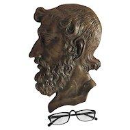 Antique Plaque of Greek Writer, Poet Homer