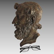 Antique Plaque of Greek Writer, Poet Homer