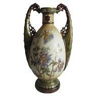 Lovely Amphora Art Nouveau Vase, Ernst Wahlis, Turn