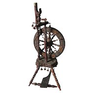 c1947 Miniature French Folk Art Spinning Wheel