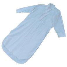 Antique c1910-20s Men's Night Shirt, White Cotton Nightshirt, Pajamas