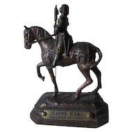 Antique Miniature Joan of Arc Paris Souvenir Sculpture