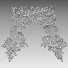 Fine 19thC Hand Made Lace Collar, Delicate & Beautiful