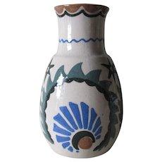 Antique Hand Painted Arts & Crafts, Art Deco Studio Art Pottery Vase