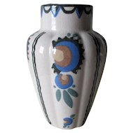 Antique Hand Painted Arts & Crafts, Art Deco Studio Art Pottery Vase