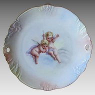 Charming c1910s Cake, Pastry Plate with Cherub Angels