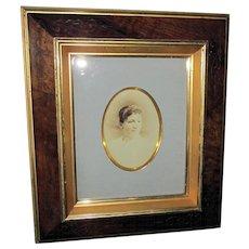 Fine c1880 Victorian Eastlake Carved Picture Frame with Gild Gold