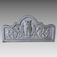 Old Cast Iron Architectural Element with Owl