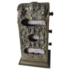 Antique c1880s Victorian Bronze Desk Top Perpetual Calendar