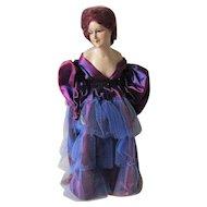 Pretty c1920-30 Art Deco Wax Doll,  Boudoir Lamp