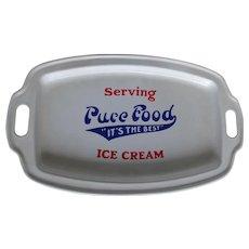 Antique Agateware  Ice Cream Advertising Tray , Graniteware
