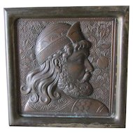 Antique Aesthetic Movement, Orientalist Architectural Plaque, Cast Iron