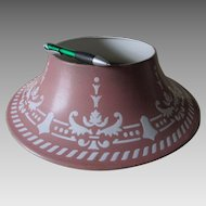 Antique Agateware Enamel Lamp Shade, Graniteware Light, Lantern Shade