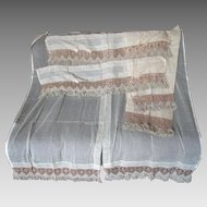 Edwardian, Arts & Crafts Sheer Curtains & Valances, 4 Panels, 2 Valances